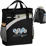 Custom Arches Recycled Poly Backpack Tote