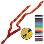 "1/2"" Custom  Cotton Lanyard with Metal Crimp"