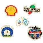 "Etched Soft Enamel Bargain 3/4"" Lapel Pins"