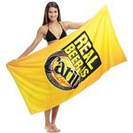 Beach Towel in Cotton Terry with a full color imprint