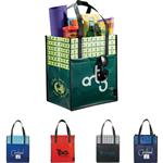 Big Grocery Laminated Non-Woven Tote with Pocket and Custom Imprint - Eco Friendly