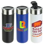 Clique 18 oz Vacuum Insulated Stainless Steel Tumbler and Travel Mug with Custom Logo