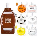 Promotional Collapsible Water Bottles in Custom Sports Themes