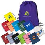 High Strength Custom Drawstring Backpacks in Polyester, String-A-Ling