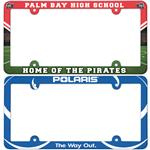 Custom Full Color License Plate Frames in Plastic with your custom full color logo imprinted