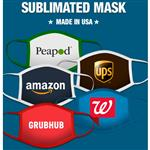 Dye Sublimated Made in USA Face Masks with Full Color Logo