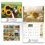 Farmer's Almanac Baby Animals Calendar, Custom Wall Calendar of Farmers Almanac