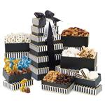 Elegant Gourment Sweet & Savory Food Tower Gift Basket