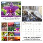 Inspirational 13 month wall calendar, custom wall calendar with inspirational messages