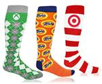 Custom Knee High Socks Printed with Your Logo or Artwork