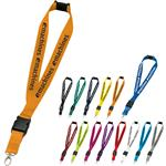 Extra Wide Lanyard with Breakaway Safety Option and Detachable Swivel Hook - 1 inch wide