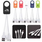 Power-Up Squid 3-in-1 Charging Cable customized with your logo by Adco Marketing
