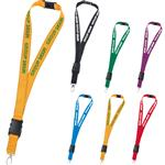 Reflective Stitch Lanyards with a 1 inch polyester body, breakaway attachment, detachable and swivel hook