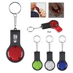 Reflector Key Lights With Safety Whistles customized with your logo