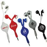 Retractable Earbuds, Promotional Earbuds