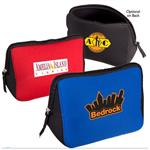 Neoprene Tech Accessory Pouch for storing chargers, cords and USB devices with custom imprint