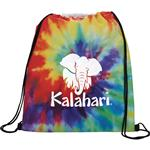 Tie Dye Drawstring Backpack customized with your logo