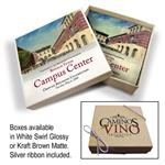 Tumbled Stone Coasters - Italian Botticino Marble with Gift Box