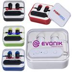 Wireless Bluetooth® Earbuds in Case customized with your logo printed