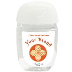 Hand Sanitizer Gel Pocket Bottle 1 oz. Custom Full Color Label