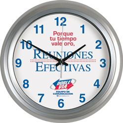 """10.25"""" Custom Metal Wall Clock"""