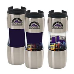 12 oz. Santana Heat Activated Custom Travel Mugs