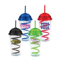 16 oz Super Dome Tumbler with Twisty Straw by Adco Marketing