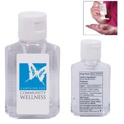 Gel Hand Sanitizer in Square Bottle - 2 oz. with custom label in full color