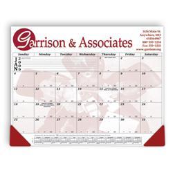 "21 3/4"" x 16 3/4"" 12 Month Calendar Desk Pad"