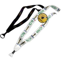 "3/4"" Custom Recycled Full Color PET Lanyards with Metal Crimps"
