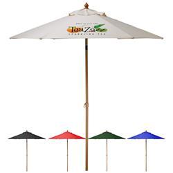 6 ft. Custom Market Umbrella with aluminum frame and wind vent