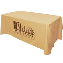 Logo 6' four-sided table cover