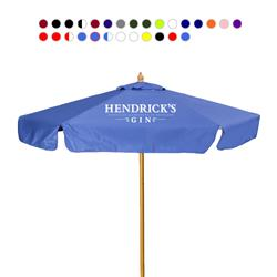 7' Wood Market Umbrella with or without a valence custom imprinted