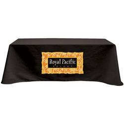 Black 8' 4-side table cover