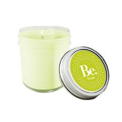 8oz. Mason Jar Candle with a custom imprint on the lid