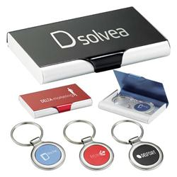 All-In-One Business Card Case and Keychain