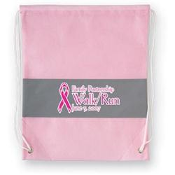 Awareness Pink Reflective String Backpacks 16 x 20