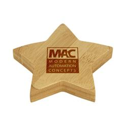 Custom Bamboo Star Paperweight by Adco Marketing