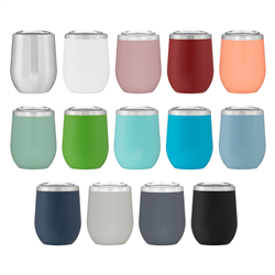 Cece 12 oz Double Wall 18/8 Stainless Steel Thermal Tumbler Vacuum Insulated Customized with your Logo by Adco Marketing