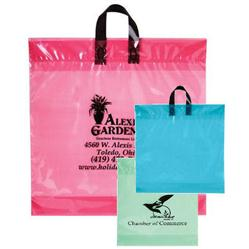 Clear Tinted Soft Loop Custom Plastic Bags 18 x 18 x 4