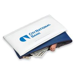 Custom Bank Deposit Bag in Simulated Leather