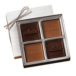 Custom Chocolate 4 Piece Gift Box