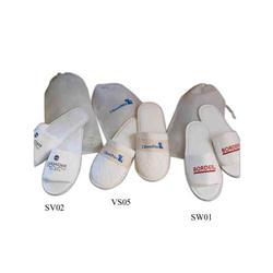 Custom Open Toe Velour Slippers