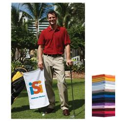 Custom Tone on Tone Light Colored Golf Towels - 16x24