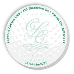 Die Cut SpiderTac Sticky Notes Golf Ball Shape 50 Sheets