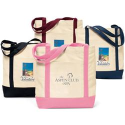 Ensign Boat Tote Bags in Cotton