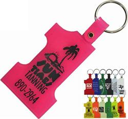 Hard Plastic Number One Key Tags