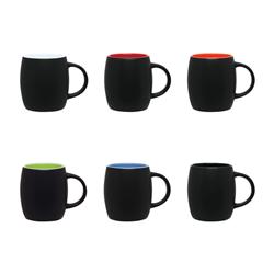 Two Tone Custom Barrel Mugs with Logo