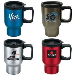 Laguna Stainless 16 oz. Basic Travel Mugs with plastic liner