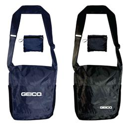Packable Messenger Bag with your custom logo by Adco Marketing